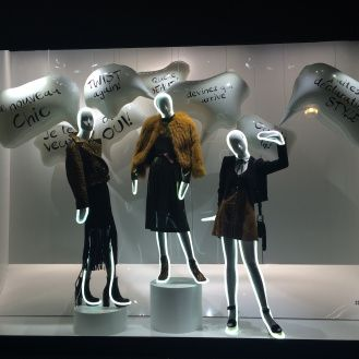 """GALERIES LAFAYETTE,Paris, France, """"Devinez qui arrive?"""", (Guess who arrives?),photo by The Window Lover, pinned by Ton van der Veer"""