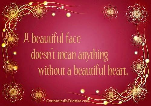 Inspirational Quotes For Life: A beautiful face doesn't mean anything without a b...