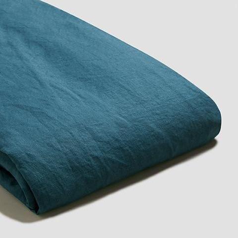 Deep Teal Linen Duvet Cover In 2021 King Size Duvet Covers Linen Duvet Covers Duvet Covers