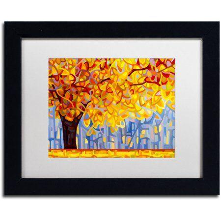 Trademark Fine Art October Gold Canvas Art by Mandy Budan, White Matte, Black Frame, Size: 11 x 14