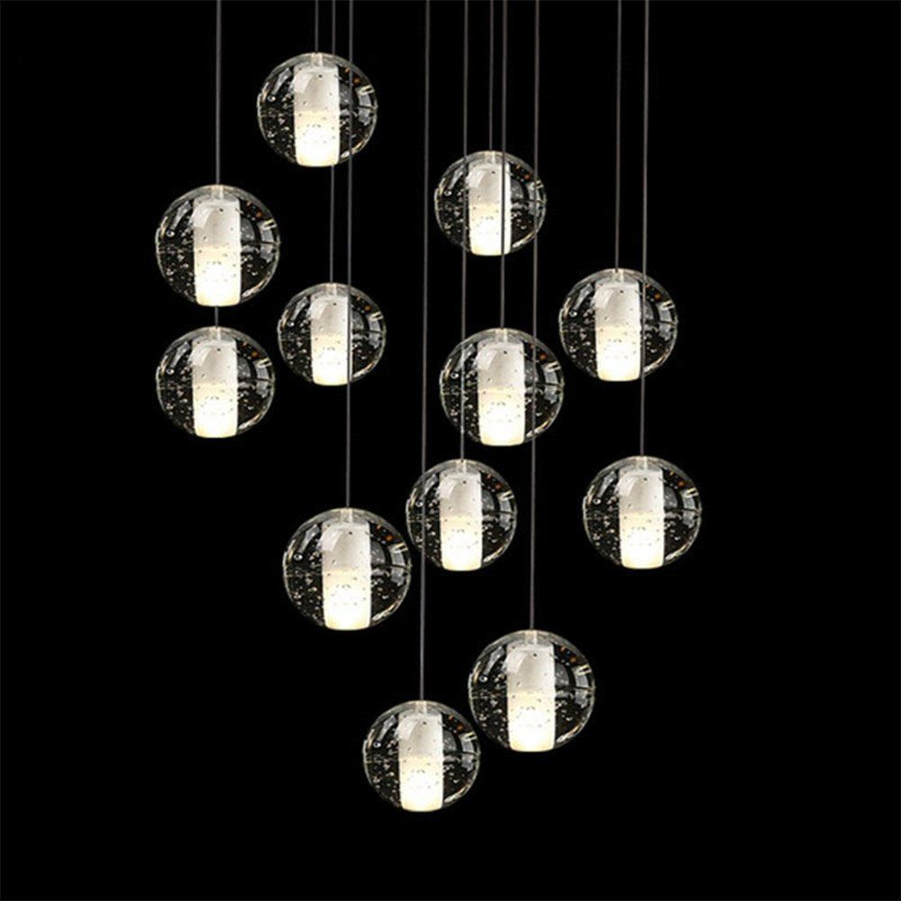 Linght modern crystal chandelier 14 bubble lights led meteo shower linght modern crystal chandelier 14 bubble lights led meteo shower magic crystal ball l335 arubaitofo Image collections