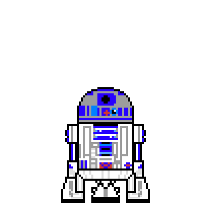 pixel art r2d2
