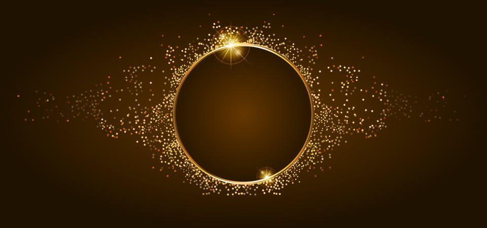 Golden Glitter And Shiny Golden Frame On Brown Background Golden Background Background Images Black Background Images
