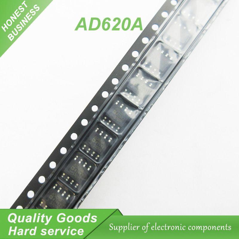 10PCS free shipping AD620ARZ AD620A AD620 AD620AR SOP-8 - free sop