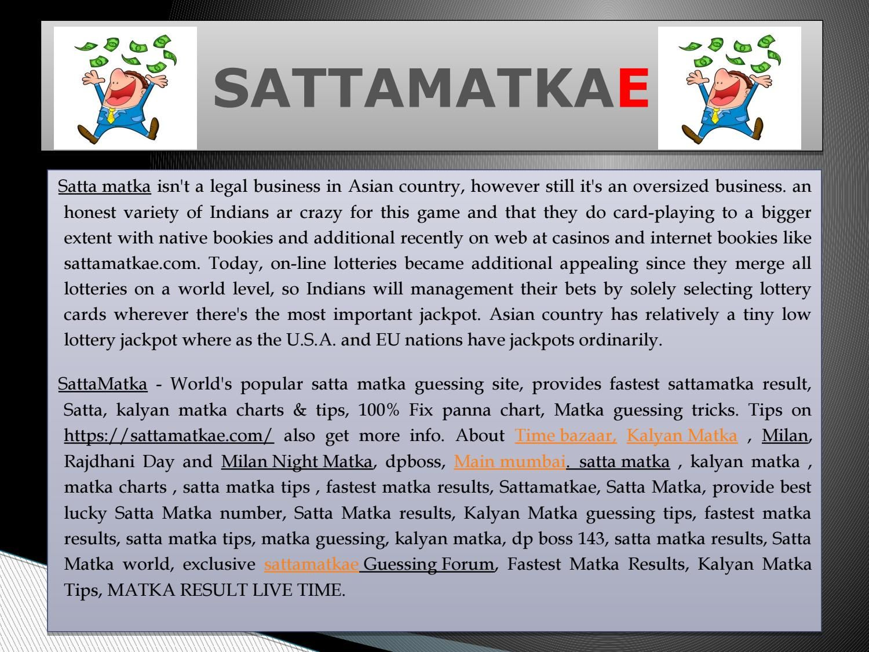Satta Matka Guessing Forum   SATTAMATKAE- LIVE RESULTS   Games