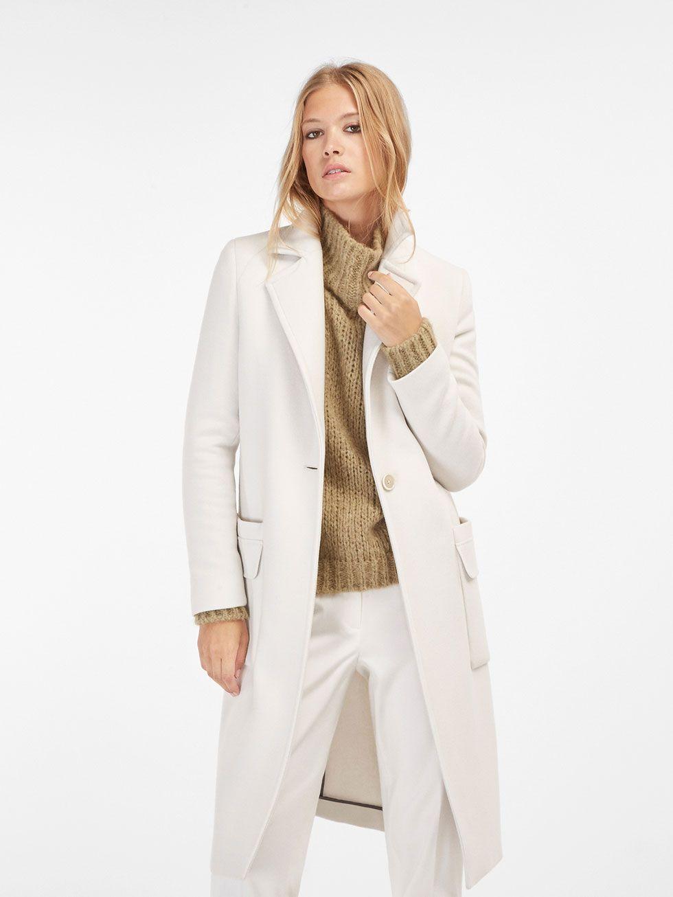 0c926169c6c5 Coats - WOMEN - Massimo Dutti | Massimo Dutti | Coat, Off white coat ...