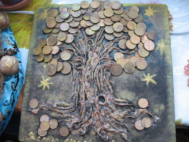 Как сделать денежное дерево своими руками из купюр и <i>картина денежного дерева из монет своими руками</i> монет: пошаговая инструкция. Денежное дерево – топиарий, из бисера
