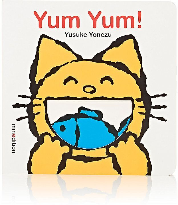 """IPG Yum Yum!  DETAILS This inventive and adorable read with beautifully designed cutouts teaches young readers what animals like to eat while introducing them to healthy foods. From the Yonezu Board Book Series. By Yusuke Yonezu. Published by minedition; Board book edition. (April 1, 2014.) Board book. 24 pages. 6.75"""" length x 0.50"""" width x 6.75"""" height (approximately). ISBN: 9789888240586. Recommended for ages 2 to 3 years and grades Preschool and up."""