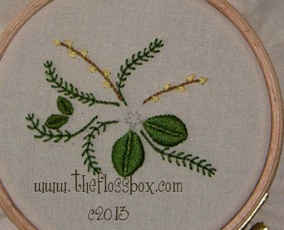 The Floss Box Embroidery Flower Tutorial Stump Work Ribbon