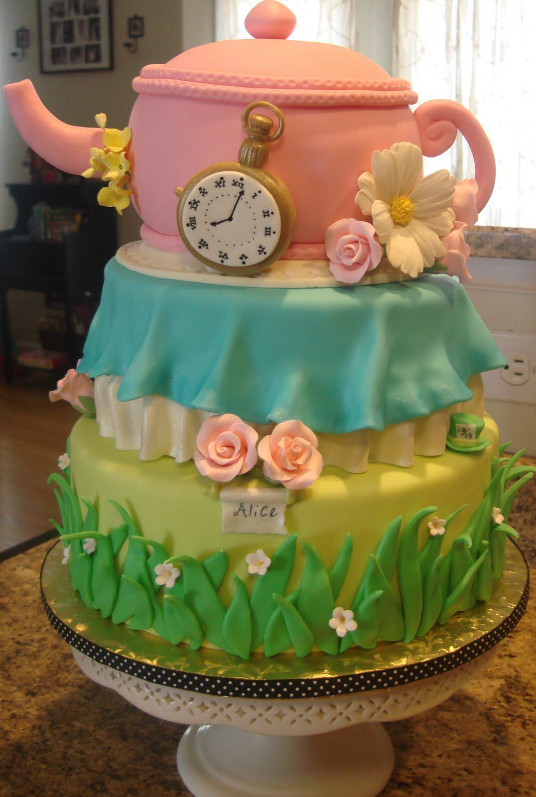 Perfect Image Detail For  Debbyu0027s Cakes: An Alice In Wonderland Inspired Baby  Shower Cake