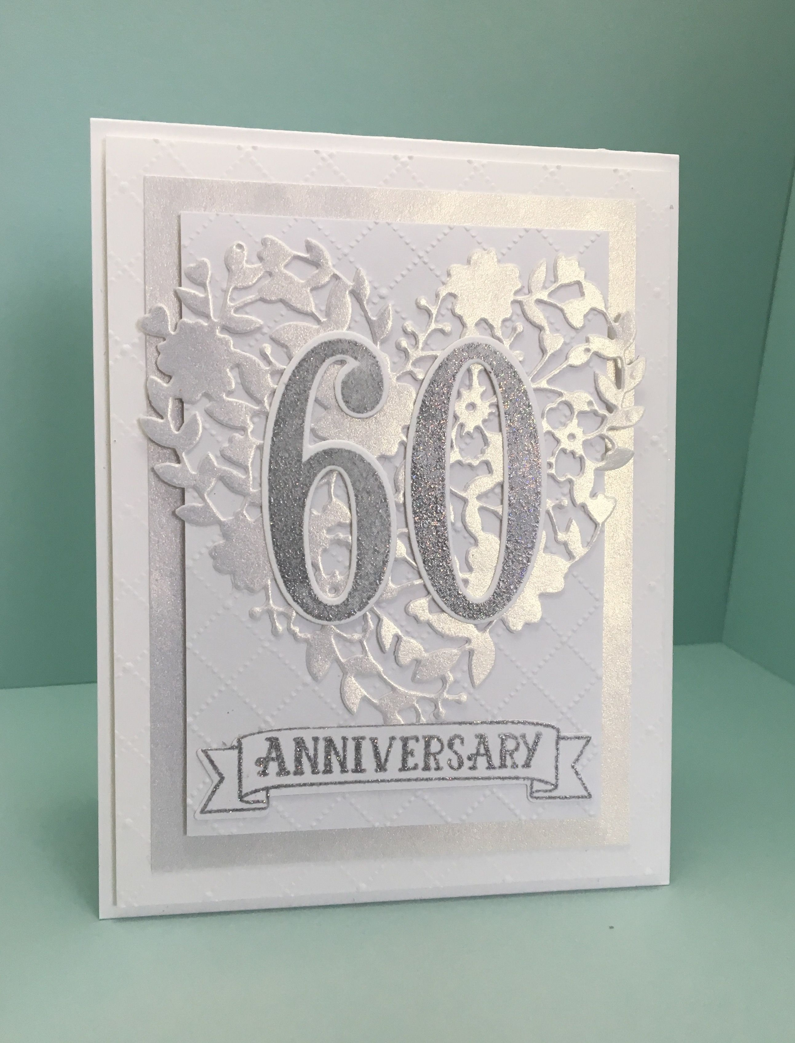 Created by Christine Yoerger. 60th Wedding Anniversary card using Stampin'  Up's… | Anniversary cards handmade, Anniversary cards for couple, 50th anniversary  cards