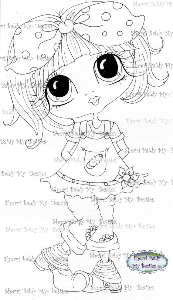 instant download digital digi stamps big eye big head dolls digi besties img239 by sherri baldy. Black Bedroom Furniture Sets. Home Design Ideas