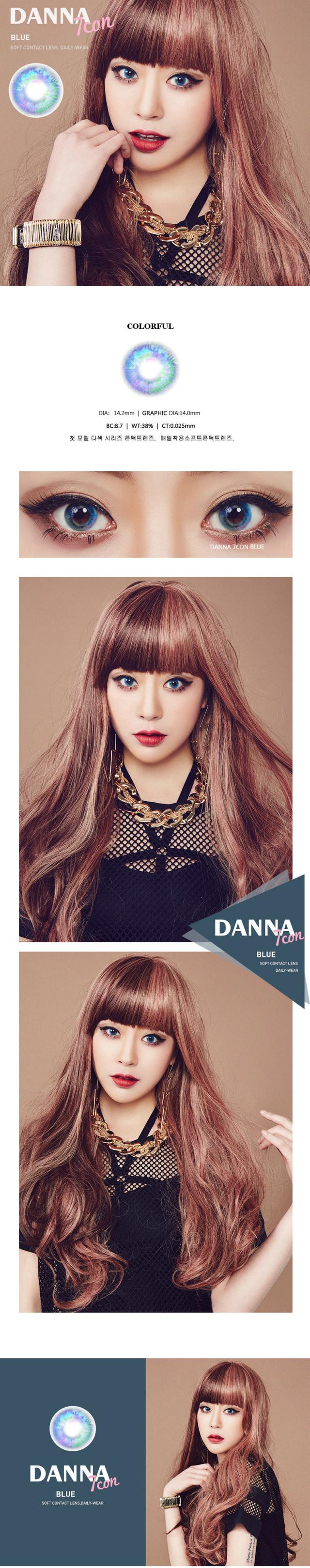 14.20mm Danna 7Con (7 Colors) Contact Lens Color Blue - $35.99 : contactlensdropshipping.com, online shopping
