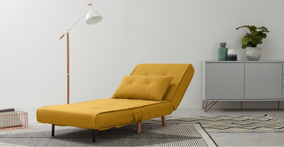 Phenomenal Made Butter Yellow Sofa Bed In 2019 Single Sofa Small Onthecornerstone Fun Painted Chair Ideas Images Onthecornerstoneorg