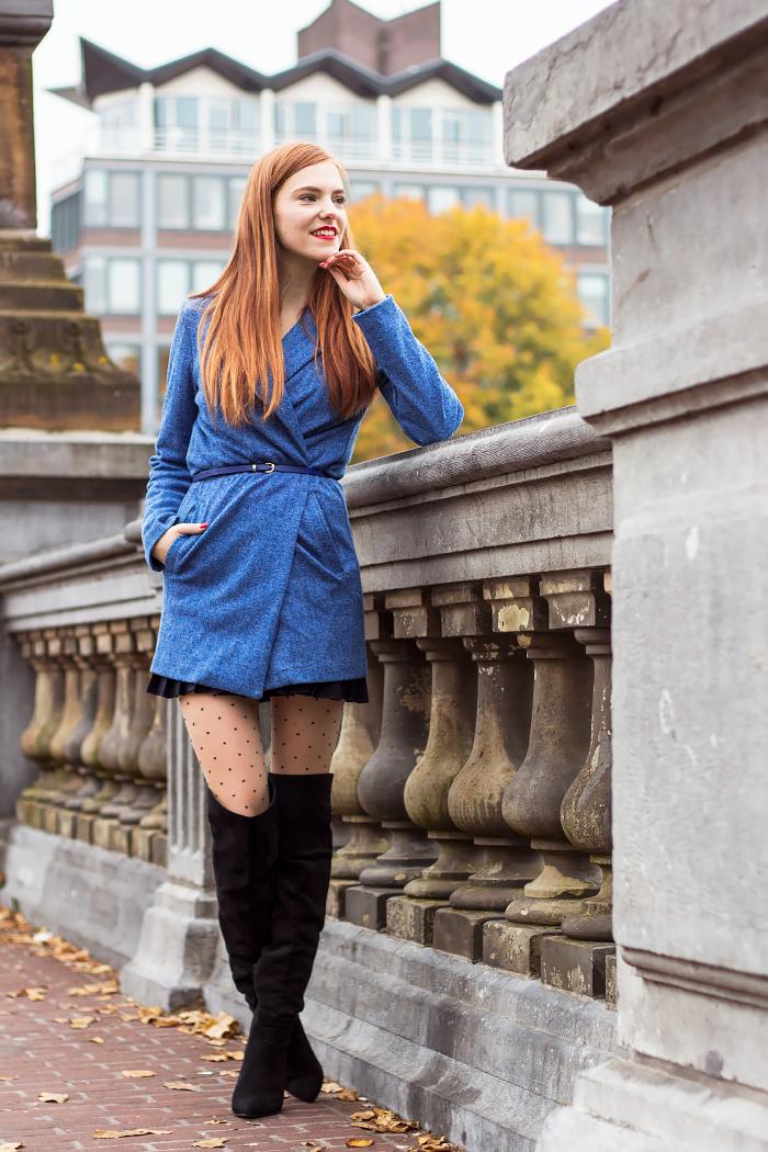 Retro Sonja Dutch Fashion Blogger Amsterdam Fall Autumn Layering Wow To Go #fetishpantyhose #pantyhosefetish #legs #boots #blogger #stiletto #pantyhose #polkadots