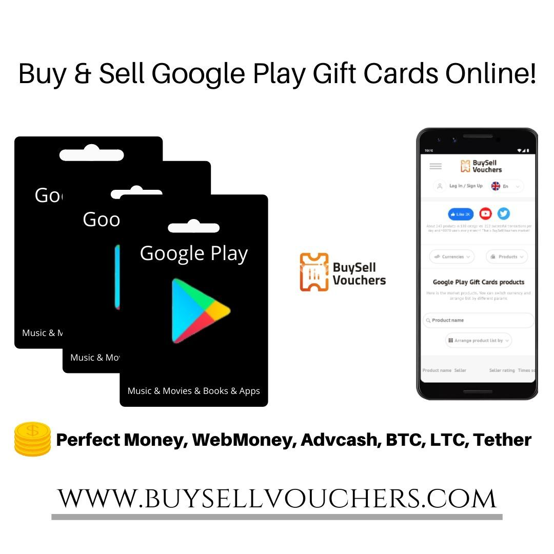 Buy and sell google play gift cards online in 2020