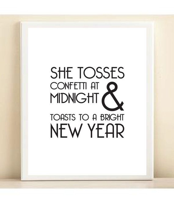 New Year\'s print by Amanda Catherine Designs | New Years Eve ...