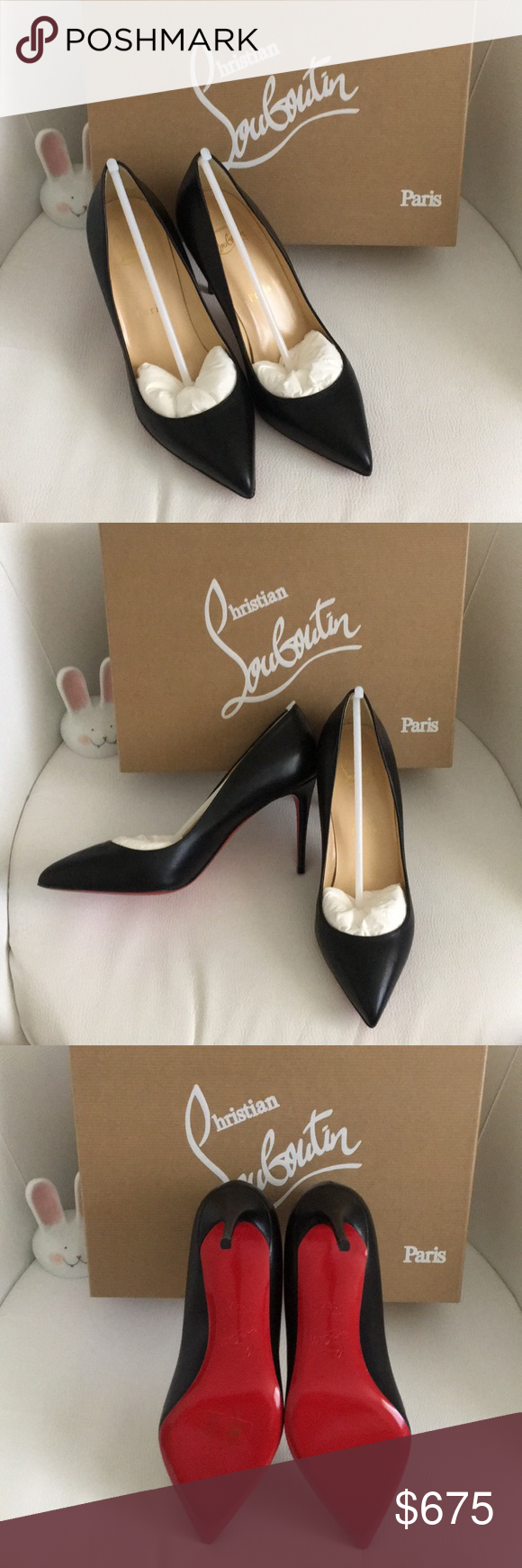 buy online 17a7e 85783 Christian Louboutin Pigalle Follies 85 Nappa Shiny New in ...