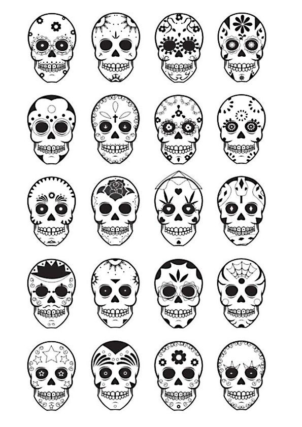 41++ Skull patterns for day of the dead ideas