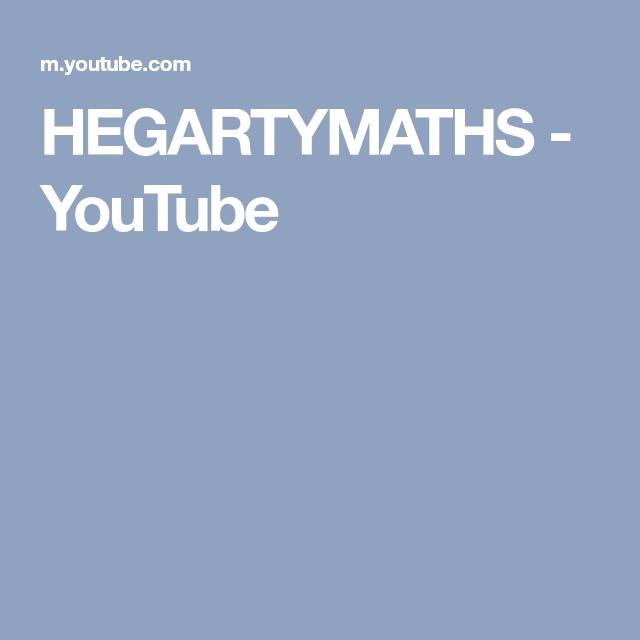 Hegartymaths Youtube Studying Math Math Youtube
