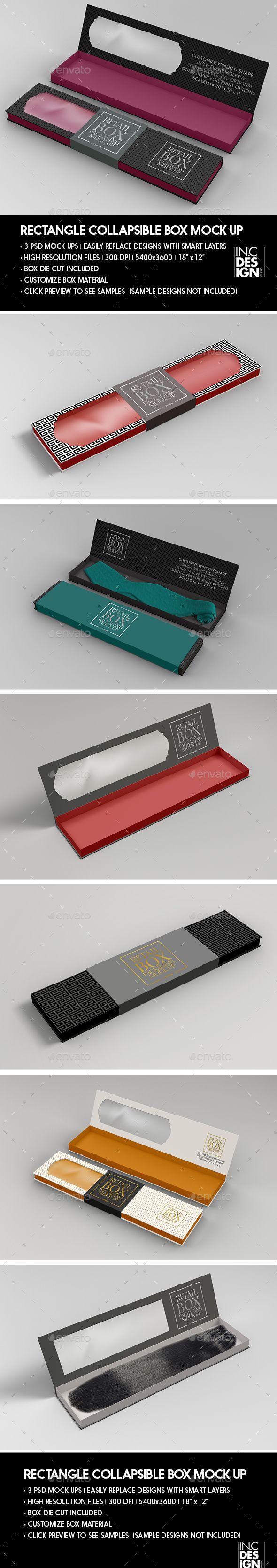 Download Rectangle Collapsible Box Packaging Mockup Professional Fully Editable Box Mockup Design Identity Packaging Mockup Graphic Design Templates Mockup Design