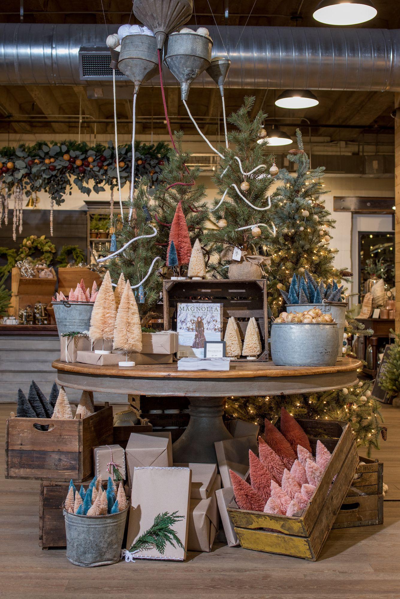 Magnolia Farms Christmas 2020 Winter install at Magnolia Market | Christmas shop displays