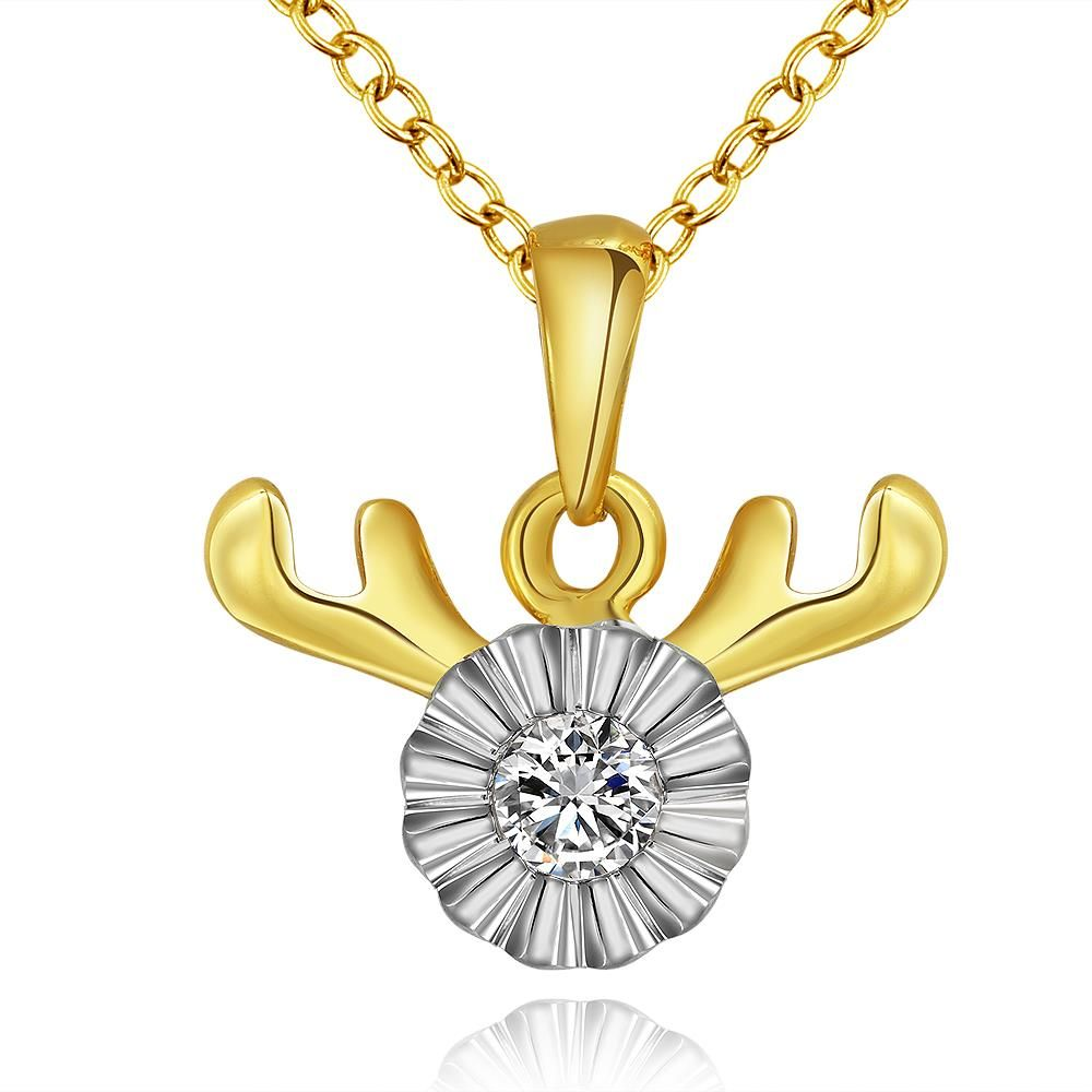 Classic 24K Gold Plated Animal Cubic Zirconia Necklaces for Women GPP171