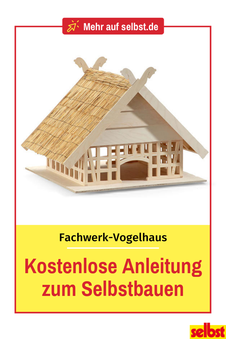 DIY: Fachwerk-Vogelhaus