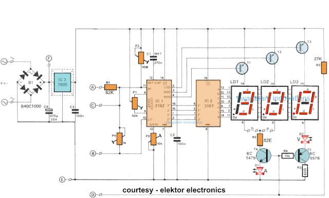 ca3162 handheld voltmeter circuit diagram wiring diagram str Industrial Electrical Wiring Diagrams circuit diagram for digital ammeter voltmeter circuit power led voltmeter circuit ca3162 handheld voltmeter circuit diagram