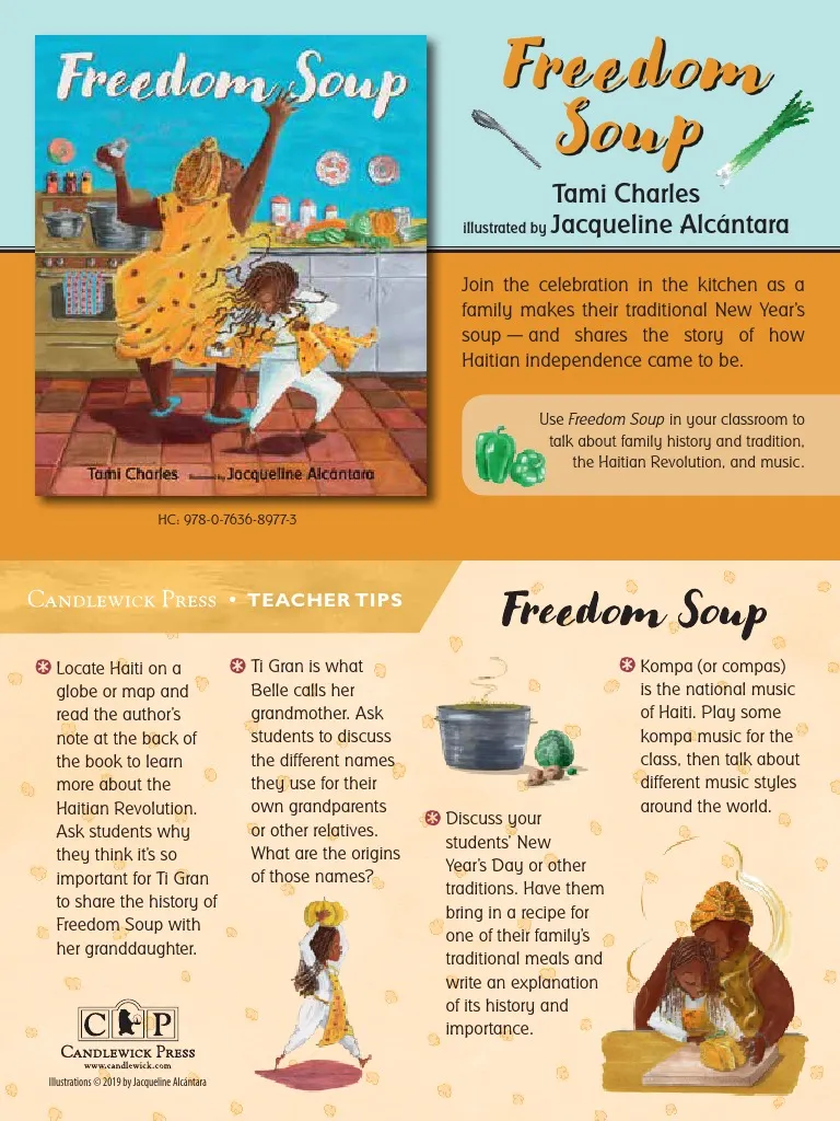 Freedom Soup By Tami Charles Illustrated By Jacqueline Alcantara Join The Celebration In The K Haitian Independence Day Teacher Hacks Celebration Balloons [ 1024 x 768 Pixel ]