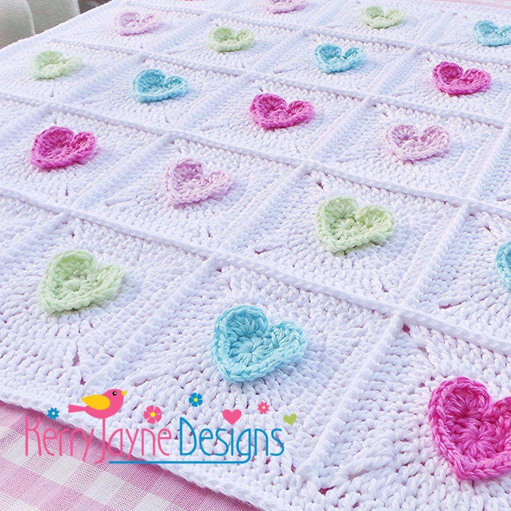 All Heart Blanket Crochet Pattern | Blanket crochet, Blanket and Crochet