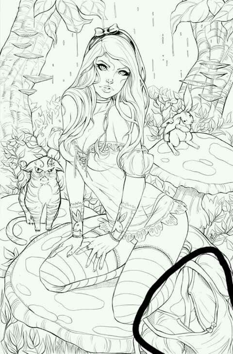 Sexy Alice   dibujo/pintura   Pinterest   Dibujo manga, Anatomía y ...