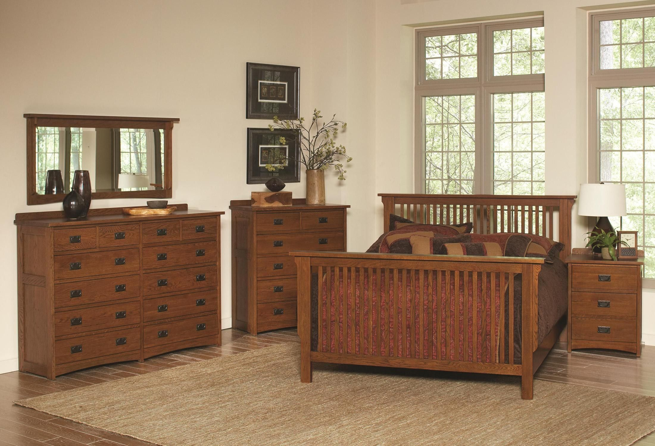 Bedroom sets coleman furniture - Mission Slat Bedroom Set From Coleman Furniture