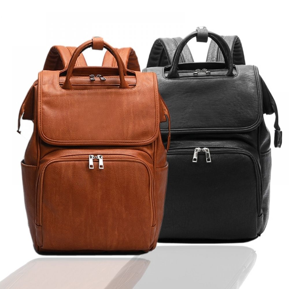 Portable Fashion Plain Diaper Bag Price 62 95 Free Shipping Brighterfamily In 2020 Leather Diaper Bag Backpack Leather Diaper Bags Baby Backpack Diaper Bag