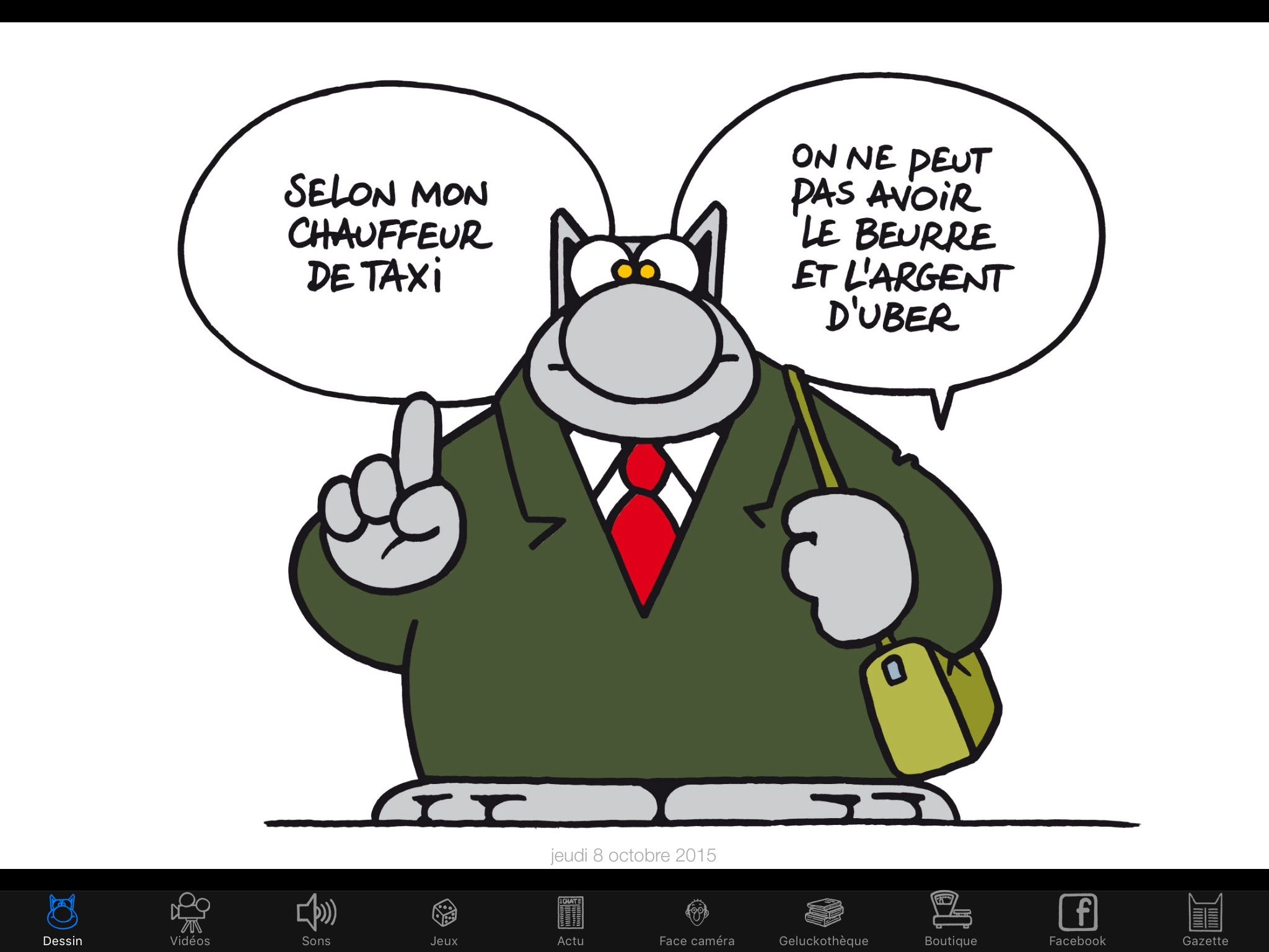Epingle Par Anne Mention Sur Rien Que Pour Moi Chat Humour Le Chat Geluck Chat