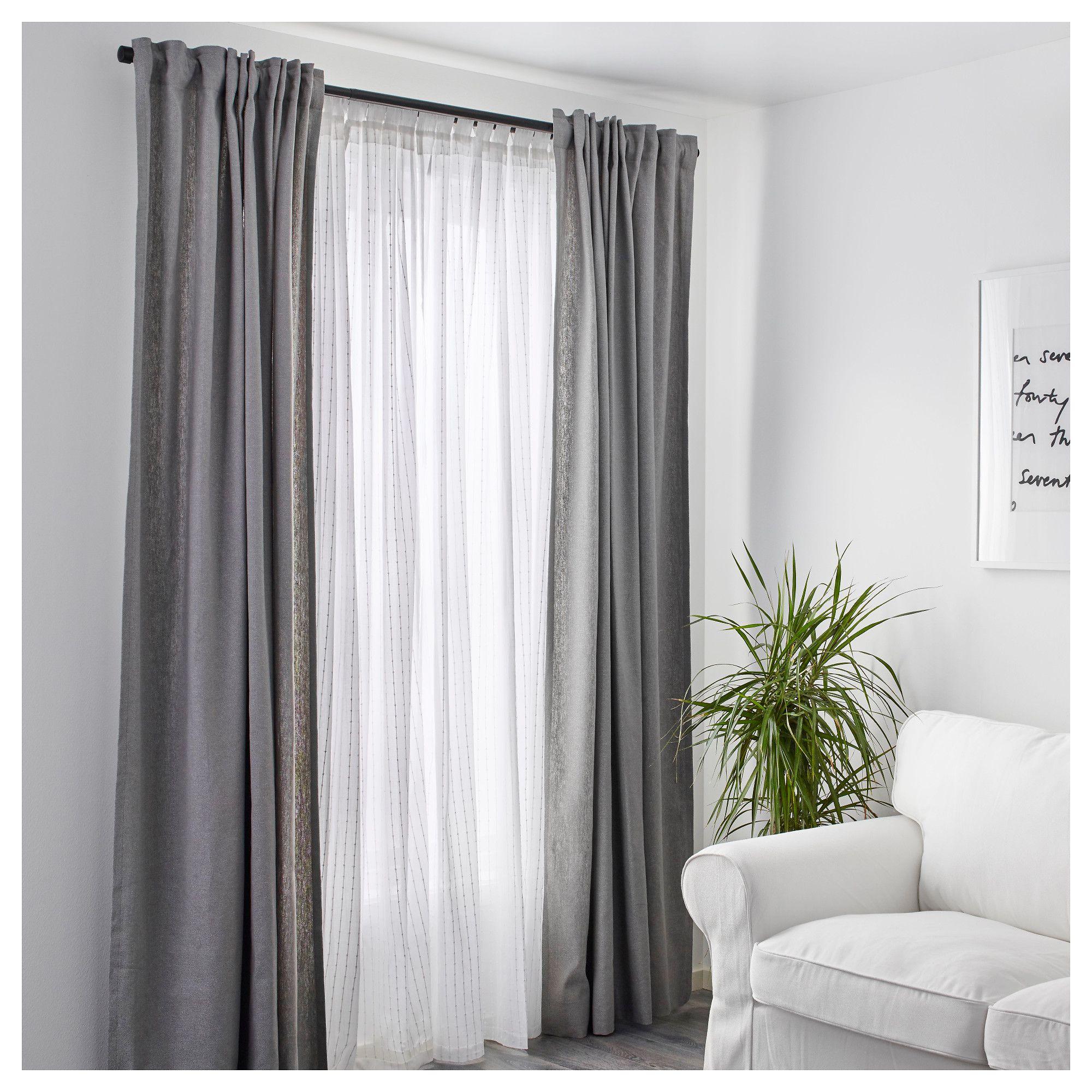 matilda sheer curtains 1 pair white 140x250 cm - Cortinas Salon