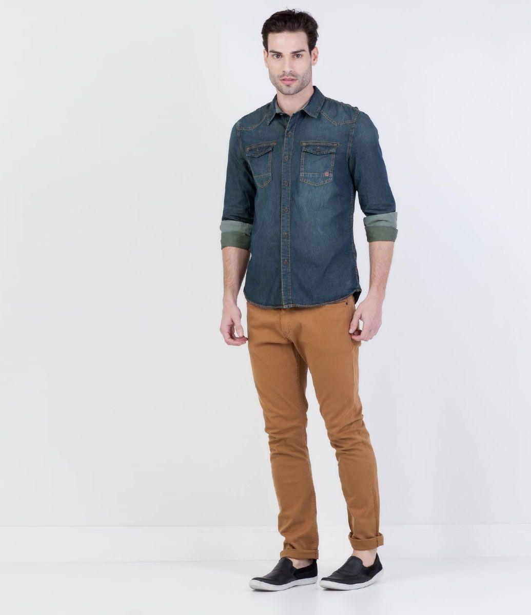 c998629bd Camisa Masculina em Jeans - Lojas Renner