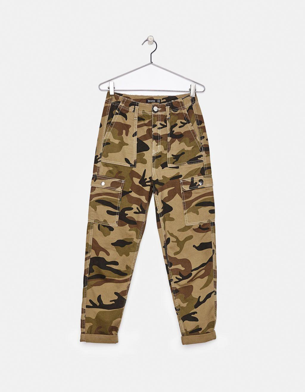 mieux sur les images de pieds de styles divers Camouflage cargo trousers - Bershka #fashion #product ...