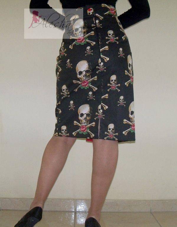 Saia lápis Pencil skirt http://www.elo7.com.br/saia-lapis-bettie/dp/2712D0