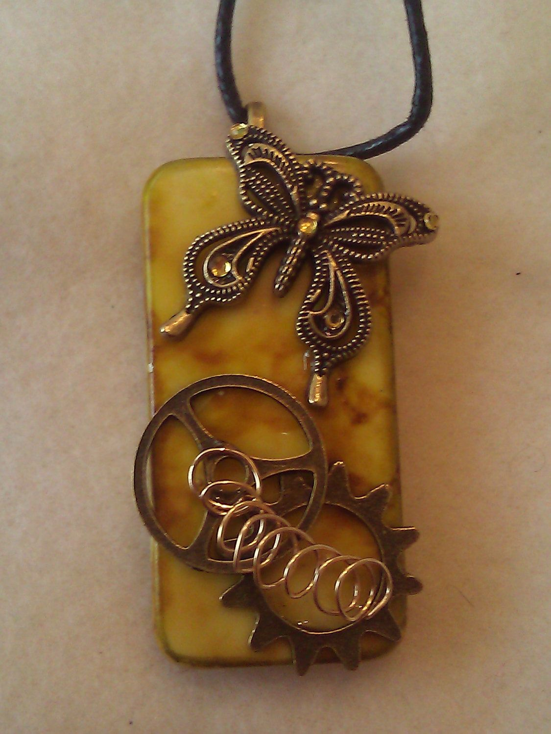 Steampunk butterfly domino necklace pendant 1000 via etsy steampunk butterfly domino necklace pendant 1000 via etsy aloadofball Image collections