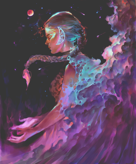 Vetyr A Reverie By The Way Gonna Start Selling Prints V Soon Stay Tuned Follow On Redbubble If You Re Interested There S Art Fantasy Art Aesthetic Art