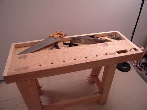 Work Bench Build 6 Tool Well And Leg Vise By Mosquito
