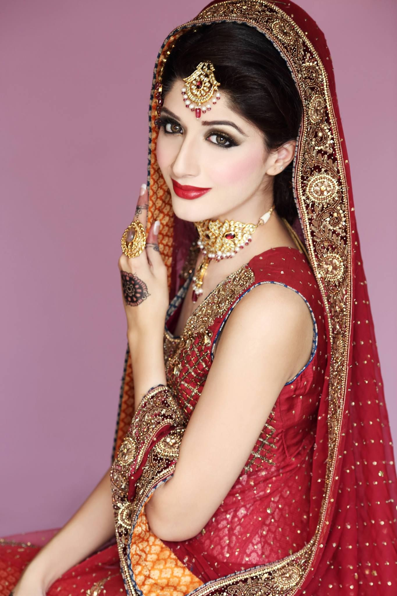 gorgeous barat look , marwa looks stunning, makeup by mariam khawaja