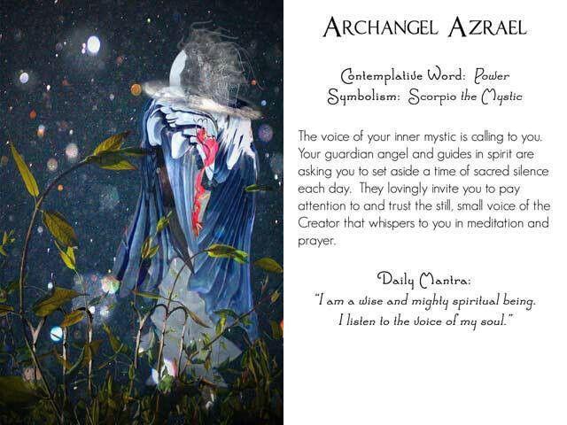 Archangel Azrael With Images Archangel Azrael Archangels