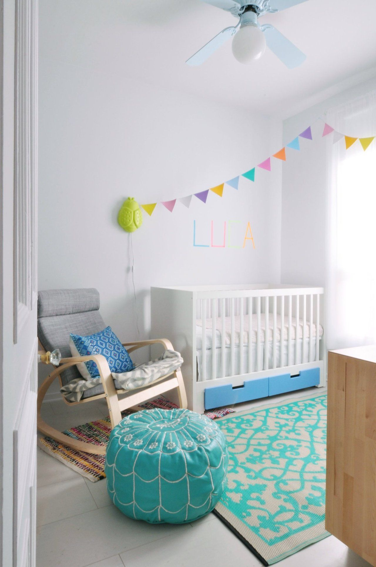 Julia bruno s colorful and airy home kiddies rooms for Kinderzimmer einrichtung ikea