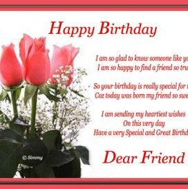 Happy birthday a friend message happy birthday pinterest happy wish your close friends buddies with this warm birthday message free online happy birthday dear friend ecards on birthday m4hsunfo Choice Image