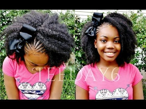 The Most Natural Looking Sew In For Preteens Teens Teeday6 Youtube Kids Hairstyles Hair Styles Kids Braided Hairstyles