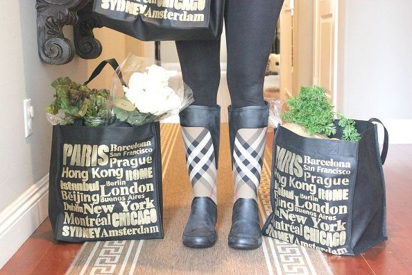 diy stenciled shopping bags, outdoor living, repurposing upcycling