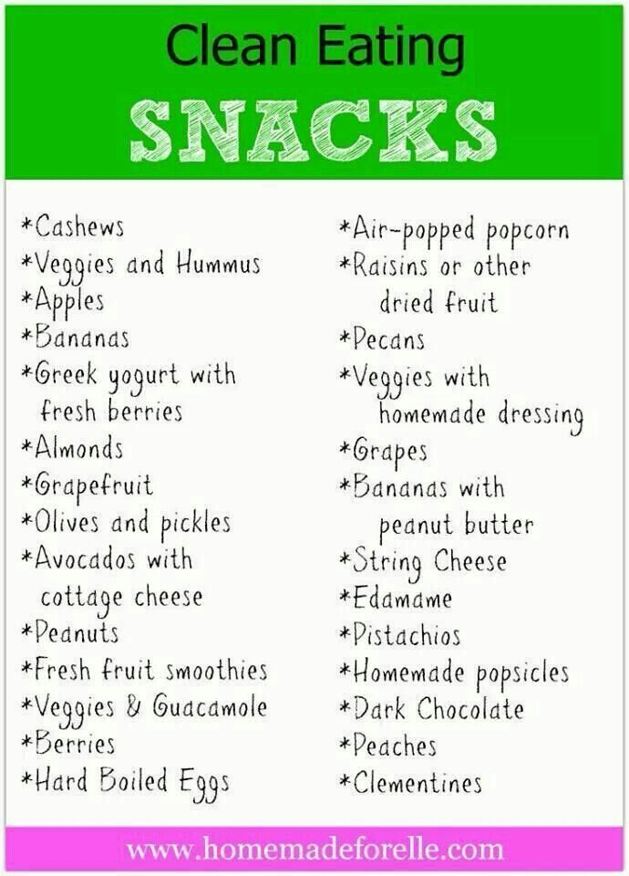 Clean Eating Snack Ideas for young players