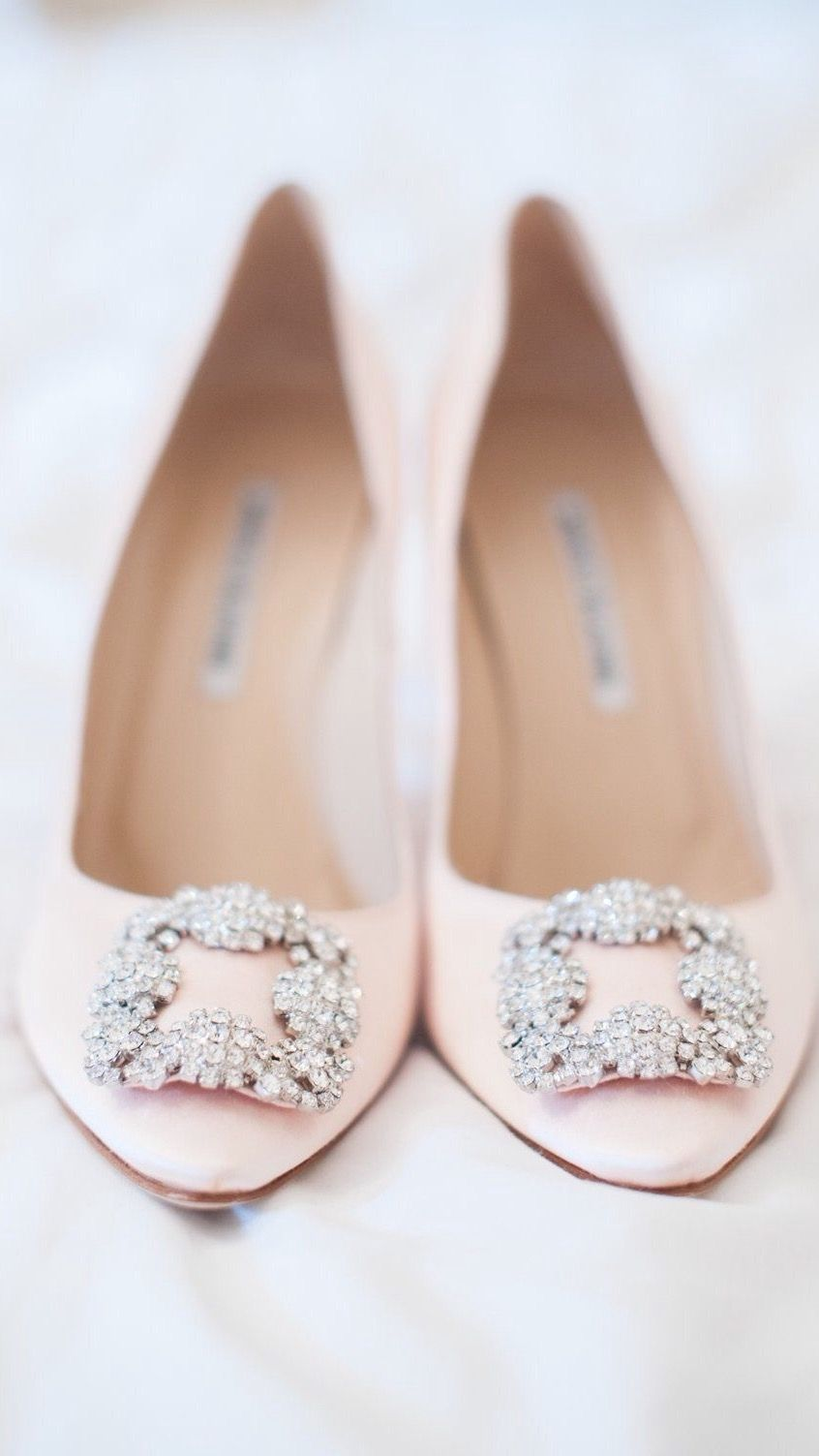 Manolo Blahnik Wedding Shoes Complete Your Look Blush Pink